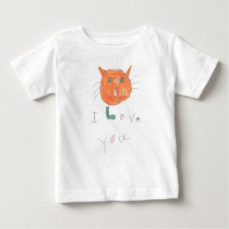 ik houd van u met kattentekening voor kind baby t shirts