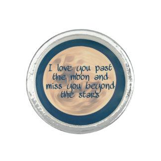 Ik houd van u voorbij de maan… ringen