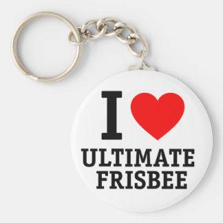 Ik houd van Uiteindelijke Frisbee Sleutelhanger