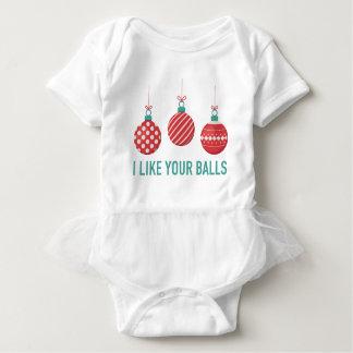 Ik houd van Uw Ballen Romper