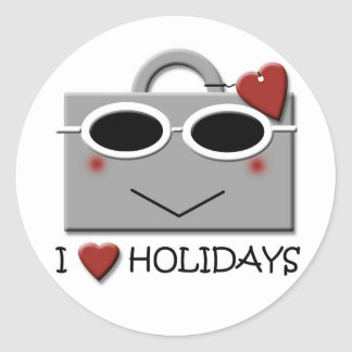 Ik houd van vakantie ronde sticker