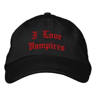 Ik houd van Vampieren Geborduurde Pet