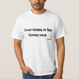 Ik houd van varend in de sleutels van Florida T Shirt