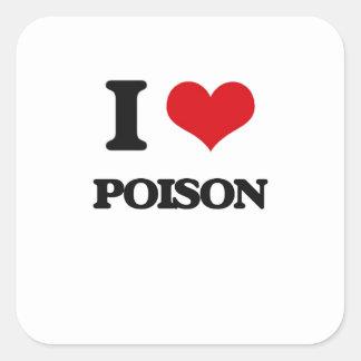 Ik houd van Vergift Vierkante Sticker