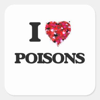 Ik houd van Vergiften Vierkante Sticker