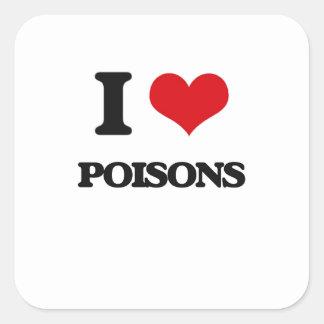 Ik houd van Vergiften Vierkant Sticker
