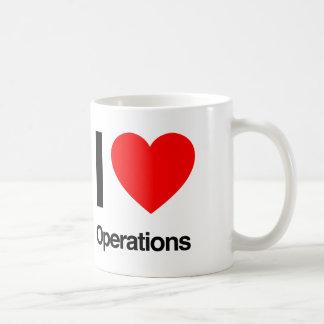 ik houd van verrichtingen koffiemok