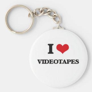Ik houd van Videobanden Sleutelhanger