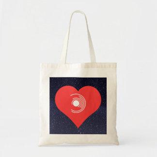 Ik houd van Vinyl Moderne Verslagen Draagtas