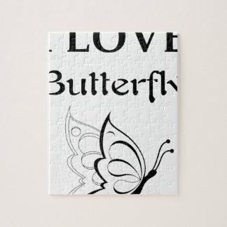 Ik houd van Vlinder Puzzels