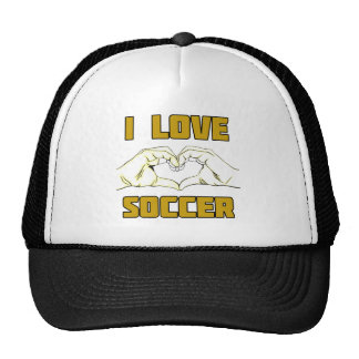 Ik houd van voetbal petten met netje