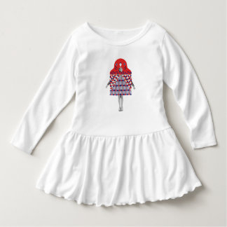 Ik houd van vogel baby jurk