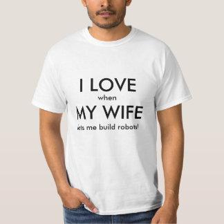 Ik houd van Vrouw/Robots T Shirt