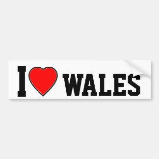 Ik houd van Wales Bumpersticker