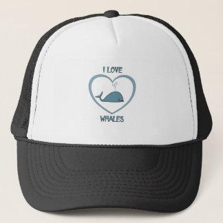 Ik houd van Walvissen Trucker Pet