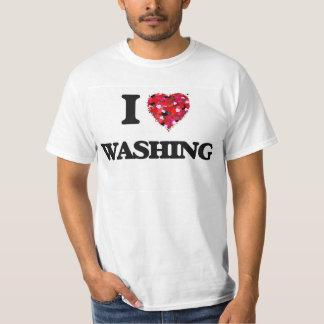Ik houd van wassend t shirt