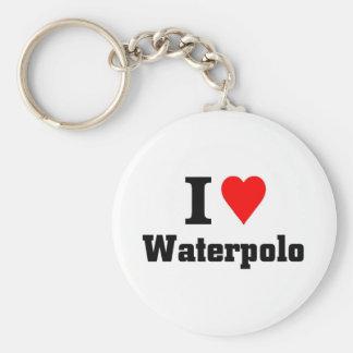 Ik houd van waterpolo sleutelhanger