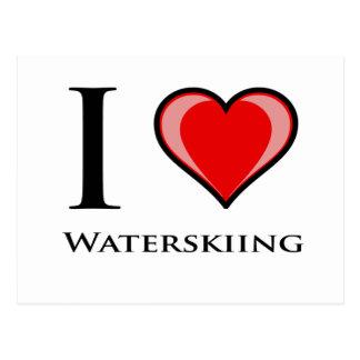 Ik houd van Waterskiën Briefkaart