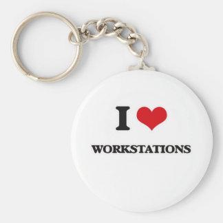 Ik houd van Werkstations Sleutelhanger