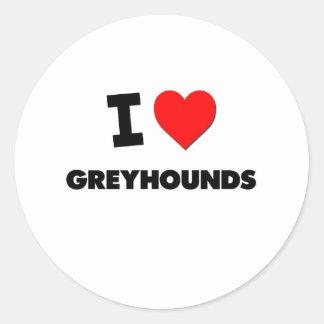Ik houd van Windhonden Ronde Sticker