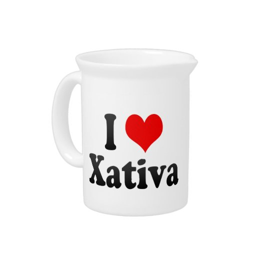 Ik houd van Xativa, Spanje. Me Encanta Xativa, Bier Pitcher
