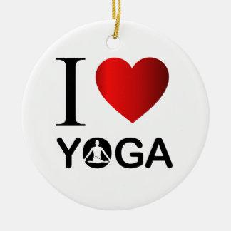 Ik houd van yoga rond keramisch ornament