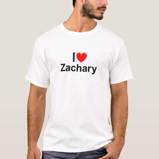 Ik houd van Zachary (van het Hart) T Shirt