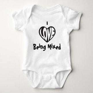 Ik houd van zijnd het Gemengde Vest van het Baby Romper