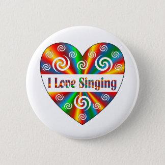 Ik houd van zingend ronde button 5,7 cm