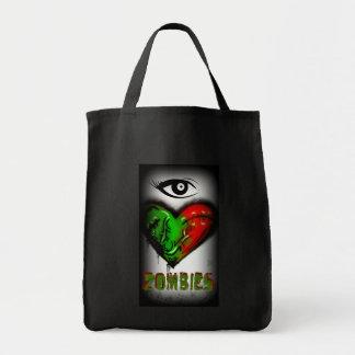 Ik houd van Zombieën Boodschappen Draagtas