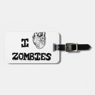 Ik houd van Zombieën Kofferlabel