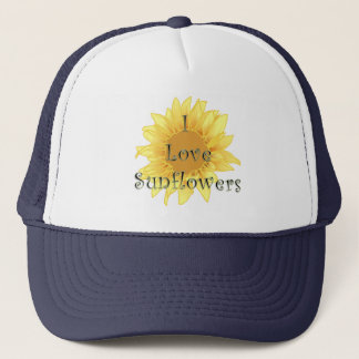 Ik houd van Zonnebloemen Trucker Pet