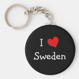 Ik houd van Zweden Sleutelhanger