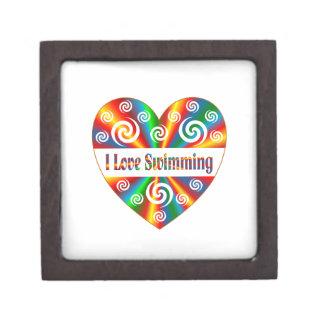 Ik houd van zwemmend premium juwelen doos