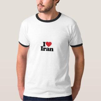 Ik houd Wit/Zwarte van de T-shirt van de Bel van
