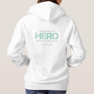 Ik huwde Mijn Held - de Vrouw van de Marine Hoodie