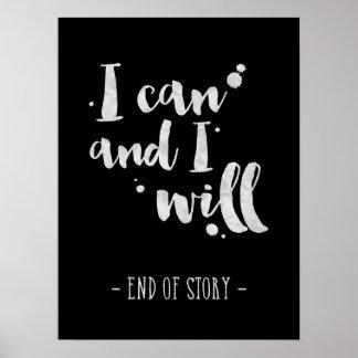 Ik kan en ik zal - Inspirerend Poster