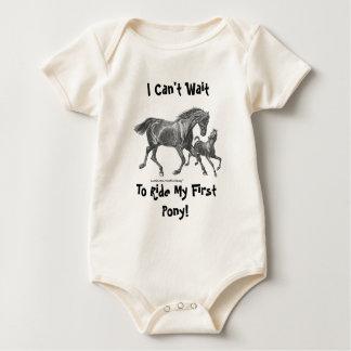 Ik kan niet wachten om Mijn Eerste Pony te Baby Shirt