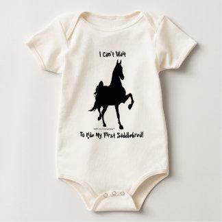 Ik kan niet wachten om Mijn Eerste Saddlebred te Baby Shirt