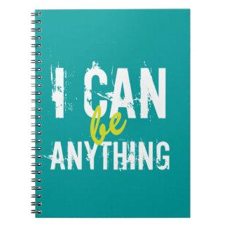 Ik kan zijn om het even wat Inspirerend Motivatie Ringband Notitieboek