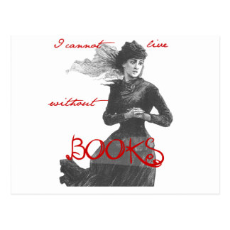 Ik kan zonder Boeken leven niet Briefkaart