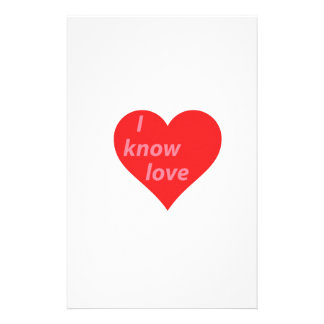 Ik ken liefde - de gift van de valentijnskaart briefpapier