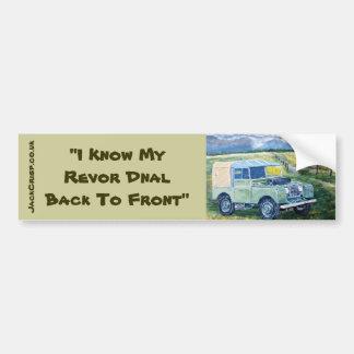 """""""ik ken Mijn Revor Dnal terug naar Voor"""" Sticker"""