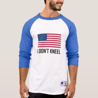 Ik kniel niet het Amerikaanse Volkslied van de T Shirt