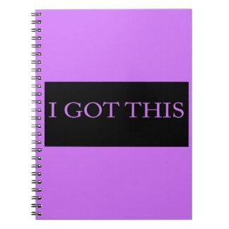 Ik KREEG DEZE grappige motivatie typografie Ringband Notitieboek