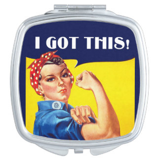 Ik KREEG DIT Rosie de Compacte Spiegel van de Handtas Spiegeltje