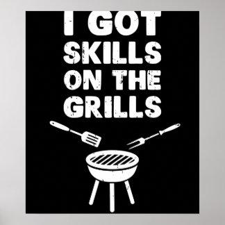 Ik kreeg Vaardigheden op BBQ van Cookout van Poster
