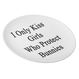 Ik kus slechts Who van Meisjes bescherm Konijntjes Melamine+bord