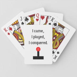 Ik kwam ik speelde pokerkaarten
