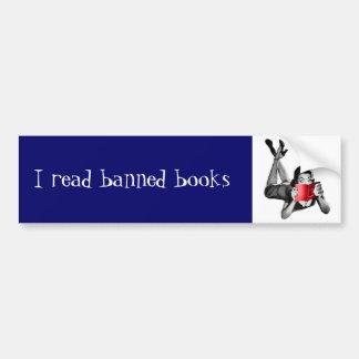 Ik las de verboden sticker van de boekenbumper bumpersticker